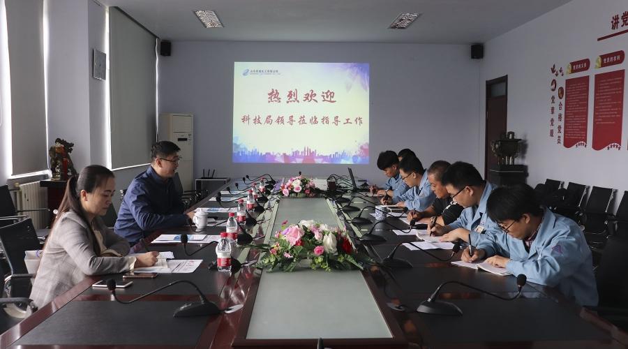 张店区科技局局长王磊来公司调研